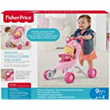 Fisher-Price Princess Mommy Stroll-Along Musical Walker, Baby Walker with Activities, Music and Sounds, Toy for 1 Year Old