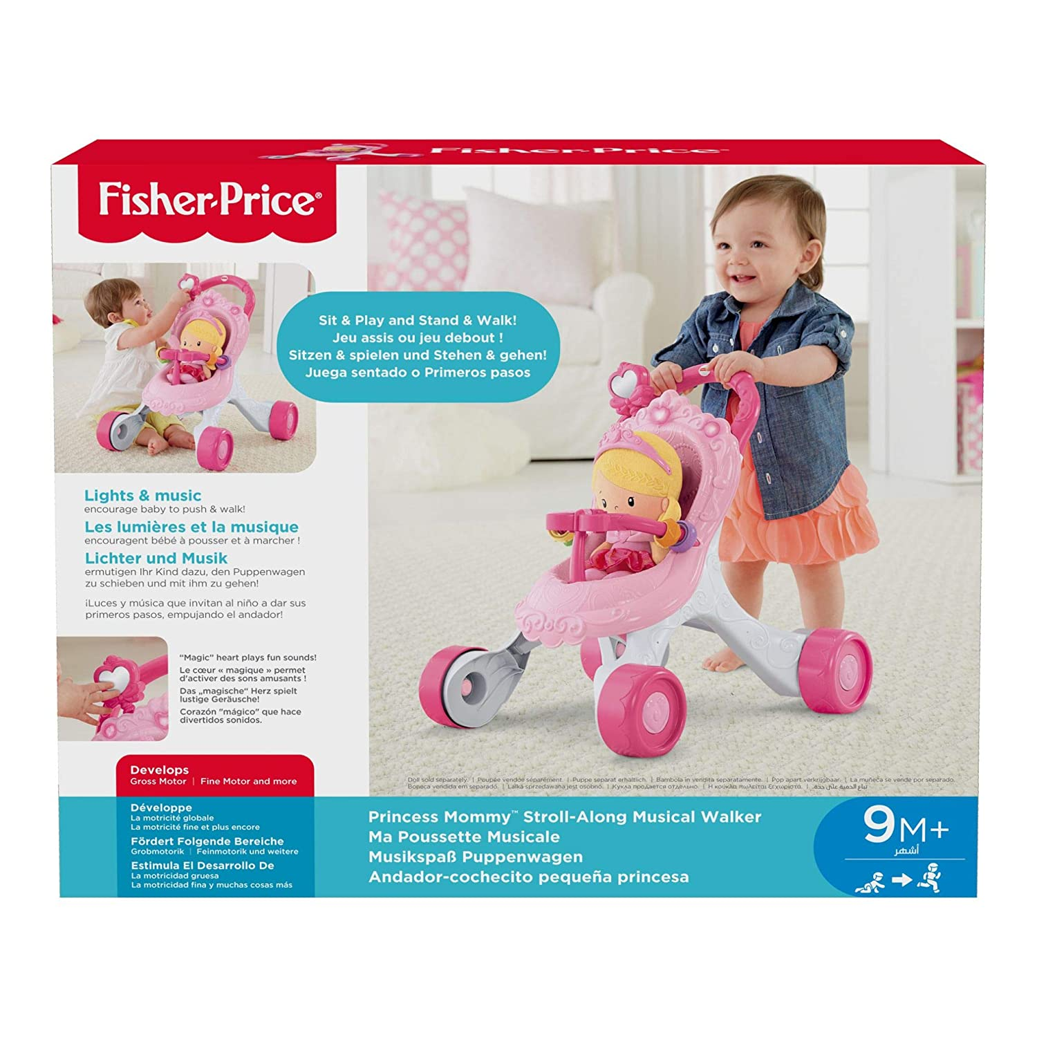 Fisher-Price Stroll-Along Musical Walker CGN65