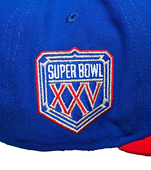 a2823292cc5 Amazon.com   New Era New York Giants 59Fifty NFL Super Bowl XXV Fitted Cap  Royal Red Undervisor   Sports   Outdoors