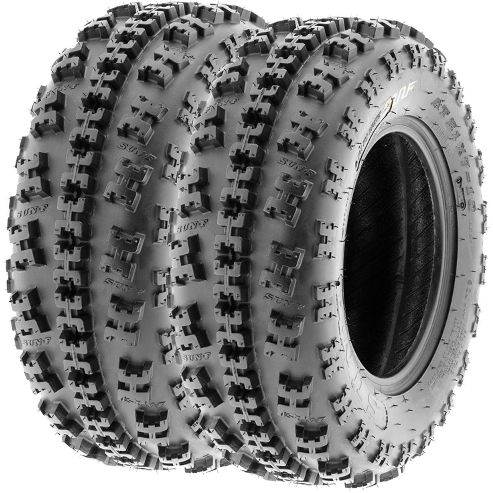 SunF 19x7-8 19x7x8 ATV UTV All Terrain Race Replacement 6 PR Tubeless Tires A027, [Set of 2]