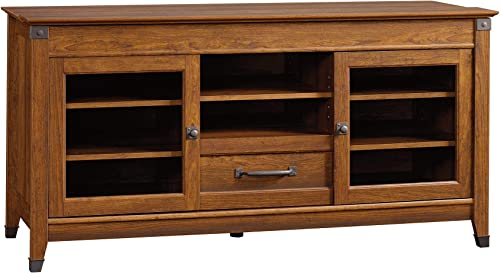 Sauder Carson Forge Entertainment Credenza, For TV s up to 60 , Washington Cherry finish