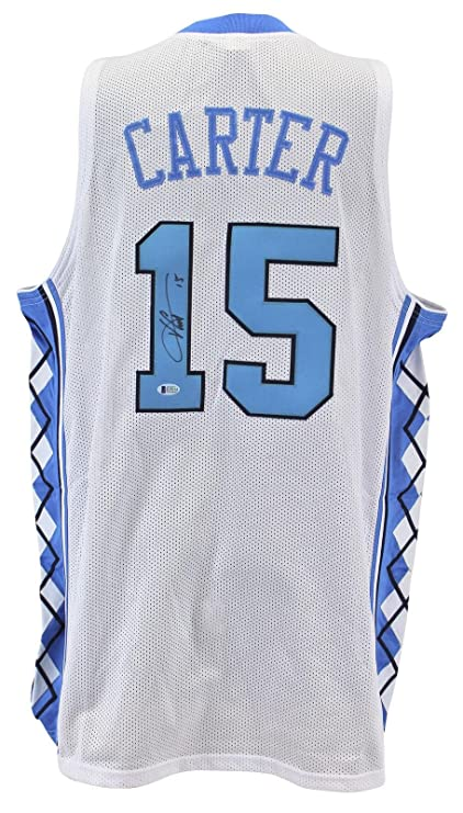 581502f16547 Signed Vince Carter Jersey - White BAS Witnessed - Beckett Authentication -  Autographed College Jerseys