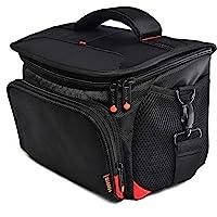 FOSOTO Shockproof DSLR Camera Shoulder Bag Case Compatible with for Canon EOS T5i T6 T7i 5D 6D, Nikon D3400 D5600 D7200…