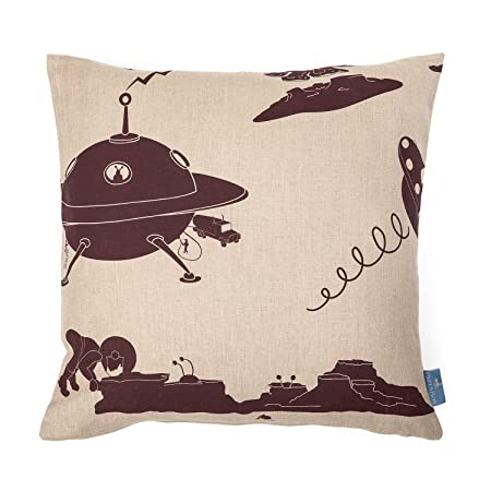 Paperboy Wallpaper The Final Frontier' Cushion, Stone and Purple: Amazon.co.uk: Kitchen & Home