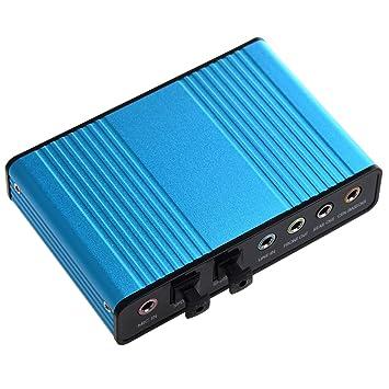 SODIAL(TM) 6 Canales USB 5.1 Tarjeta de Sonido Externa S / PDIF