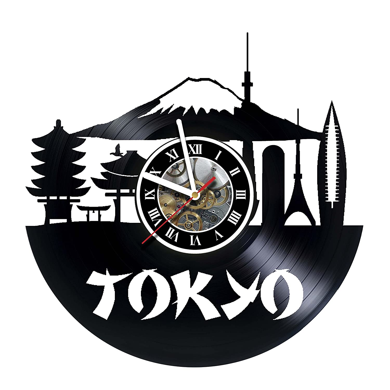 kravchart東京 – タワー – – スカイライン – ハンドメイドビニールレコード壁時計 – – – アートワークギフトアイデアの誕生日、クリスマス、レディース、メンズ、友人、ガールフレンドボーイフレンドとティーン – リビング子供部屋保育園 B07CTKJY8Y, フクトク:098f3bb4 --- ijpba.info