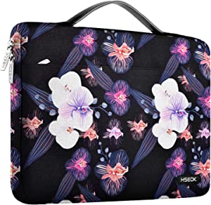 "Hseok Laptop Sleeve 13-13.5 Inch Case Briefcase, Compatible All Model of 13.3 Inch MacBook Air/Pro, XPS 13, Surface Book 13.5"" Spill-Resistant Handbag for Most 13""-13.5"" Notebooks, Jellyfish Flower"