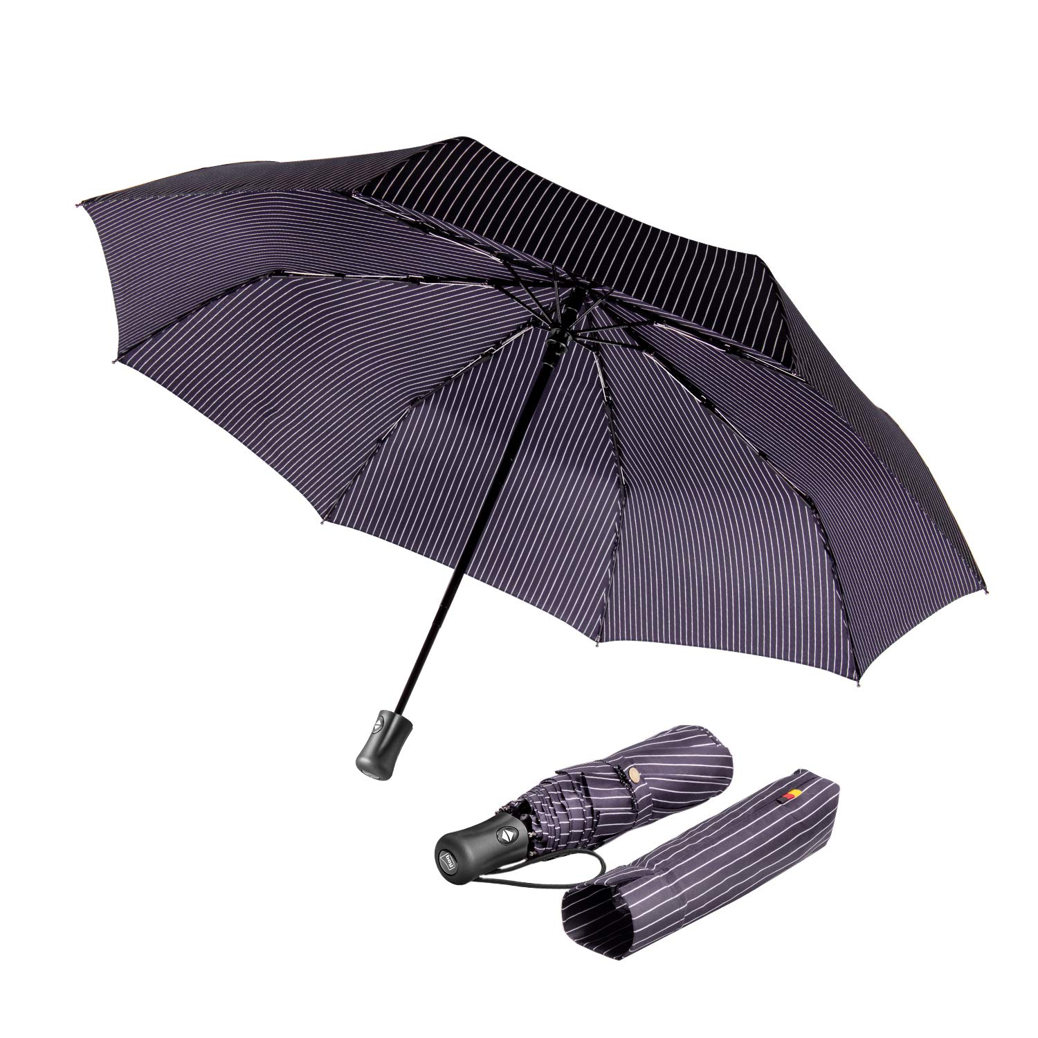 boy® Automatic Umbrella Compact, Travel Umbrella Windproof Waterproof, Extra Strong Umbrella with Reinforced Windproof Frame, Portable Umbrella for Women and Men TW3014S-107