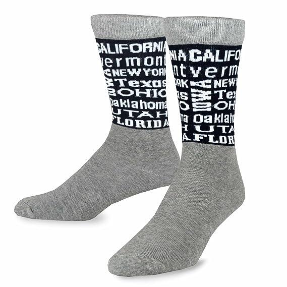 teehee la bandera americana hombre socks- I Love EE. UU, estrella y rayas calcetines: Amazon.es: Ropa y accesorios