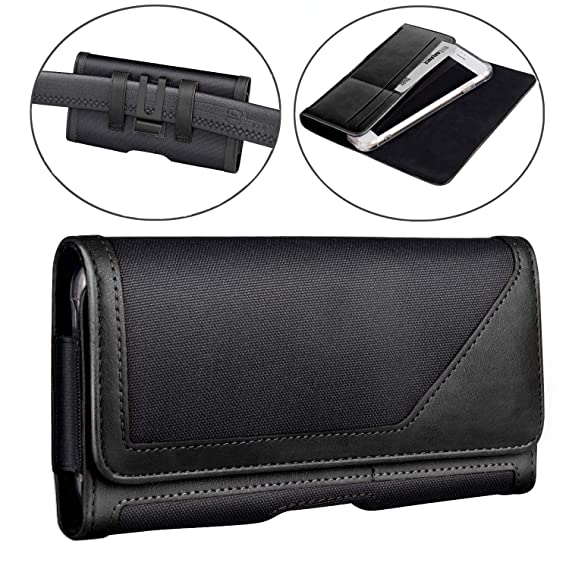 brand new b915c a3246 iPhone Xs MAX Holster Pouch, iPhone XR Holster Belt Case with Clip/Loops  Belt Pouch for iPhone 8 Plus 7 Plus 6s Plus 6 Plus/Galaxy S9 Plus S8 Plus  ...