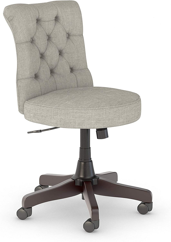 Amazon Com Bush Business Furniture Arden Lane Mid Back Tufted Office Chair Light Gray Fabric Furniture Decor