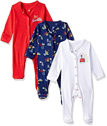 31acf53d08d8 Mothercare Baby Boys 3 Pack Beep Sleepsuit  Amazon.co.uk  Clothing
