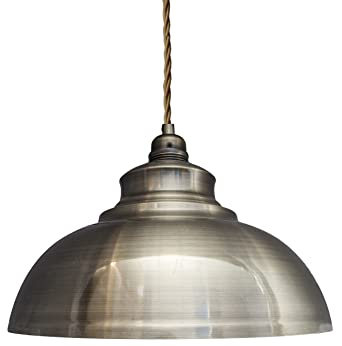 Modern Vintage Antique Brass Pendant Light Shade Industrial Hanging Ceiling Ideal For Dining Room Bar