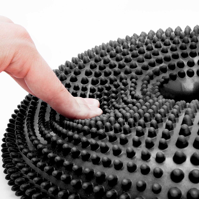 Reha- //Luftkissen//Balance-Kissen f/ür Fitness- Koordinations- Pumpe #DoYourFitness Ballsitzkissen mit Loch /»Donut/« inkl ca. 140kg Maximalgewicht und R/ückentraining// 33 cm//In vielen Farben