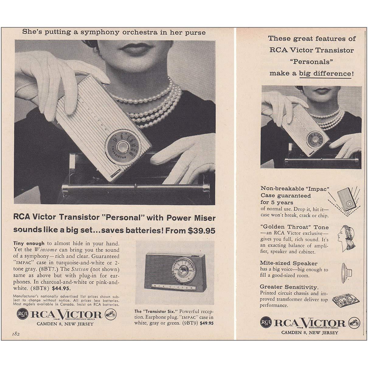 Amazon com: RelicPaper 1957 RCA Victor Transistor: Personal