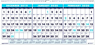 product image for House of Doolittle 2020 Wall Calendar, Three-Month Horizontal, 23.5 x 12 Inches, December - January (HOD3648-20)