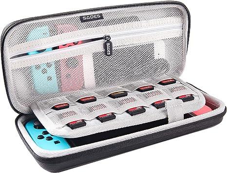 Funda para Nintendo Switch, Estuche de Transporte Para Nintendo Switch con 10 Tarjetas De Juego Ranuras, Console y Accessories - SADES: Amazon.es: Videojuegos