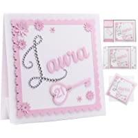 Personalised 21st Birthday Card (ANY AGE) The First Letter Of Any Name Is Made With Individual Diamond Crystals Choice Of Heart Or Key For Age 7 Colours & Presentation Unique For Special Birthdays