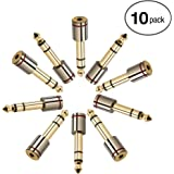 Aurum Cables 10-Pack 6.35mm Male to 3.5mm Female Stereo Adapter