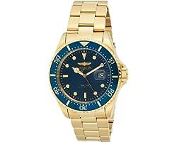 Invicta Men's Pro Diver 43mm Gold Tone Stainless Steel Quartz Watch, Gold (Model: 23388)