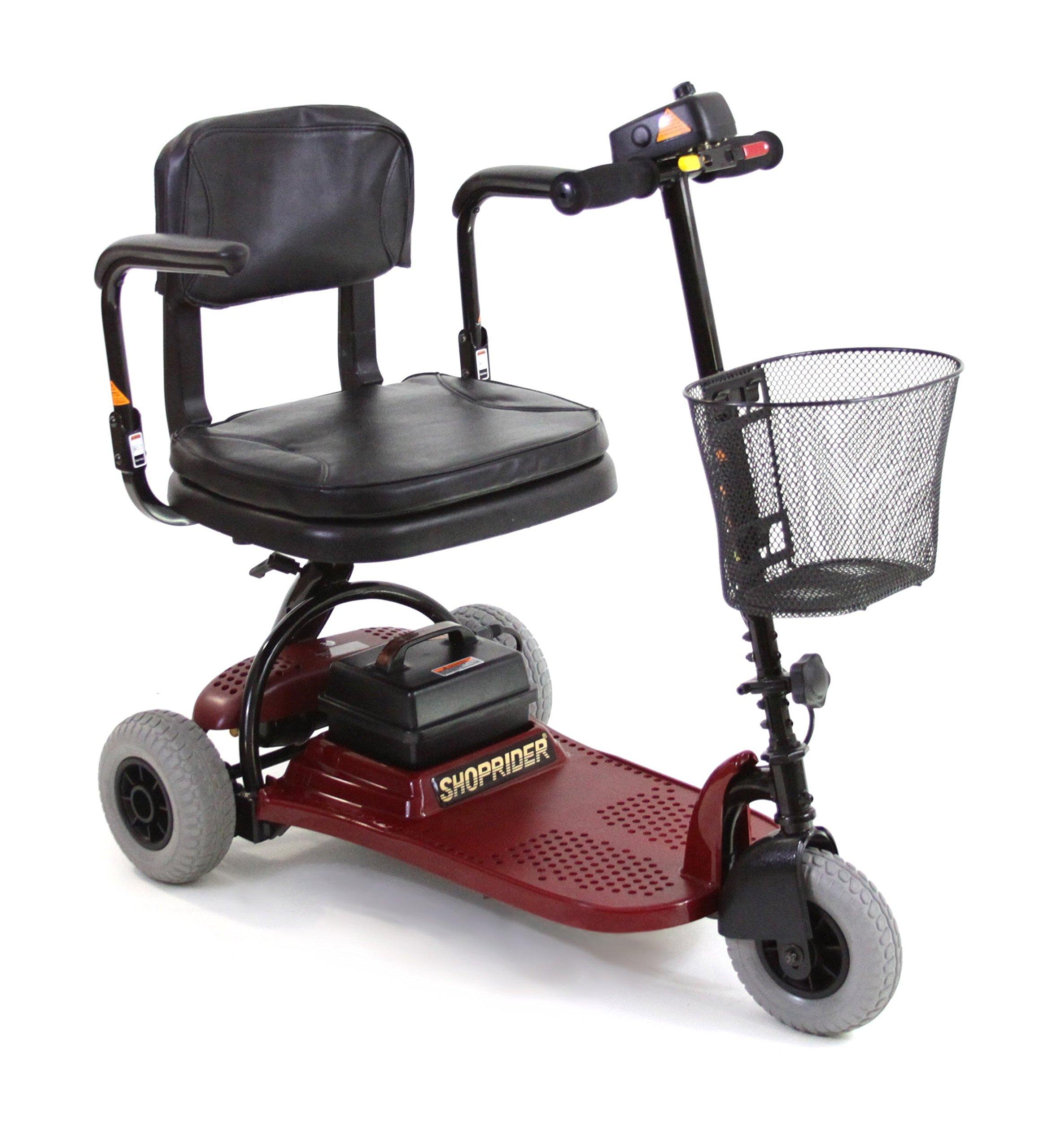 Shoprider Echo 3 Wheel Scooter, Red, 70 Pound