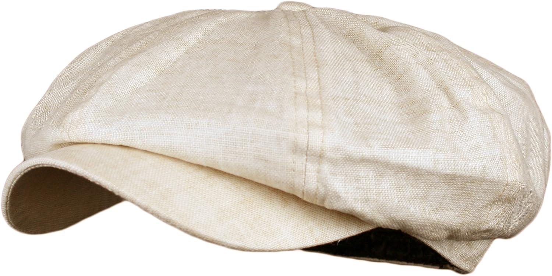 Wonderful Fashion Men's Linen 8 Panel Applejack Gatsby newsboy IVY Hat