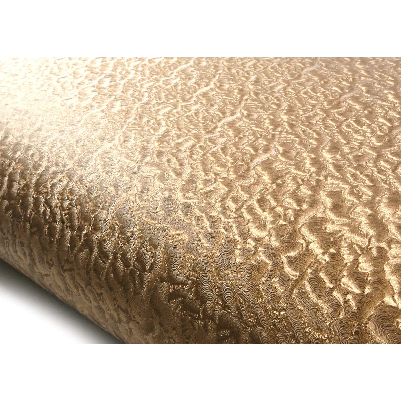 ROSEROSA Peel & Stick Leather Pattern Backsplash Crocodile Tiger Camel Contact Paper Self-adhesive Wallpaper Shelf Liner Table Door Reform (MF5147-9 : 2.00 Feet X 6.56 Feet)