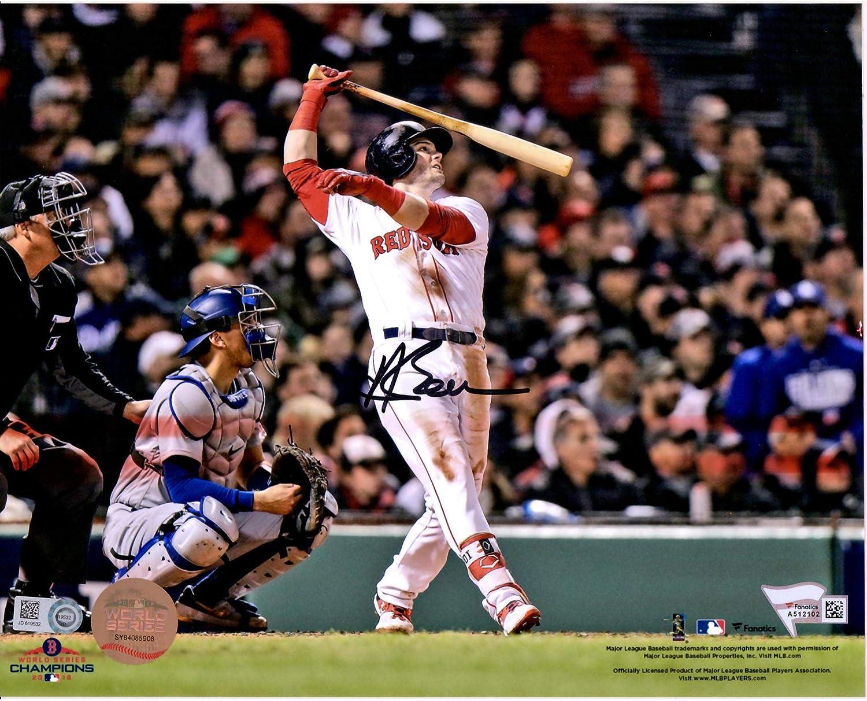 Fanatics Authentic Certified Andrew Benintendi Boston Red Sox 2018 World Series Champions Autographed 8 x 10 Catch Photograph
