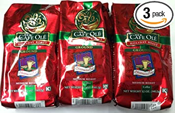 Amazon.com : HEB Cafe Ole Ground Coffee 12oz Bag (Pack of 3 ...