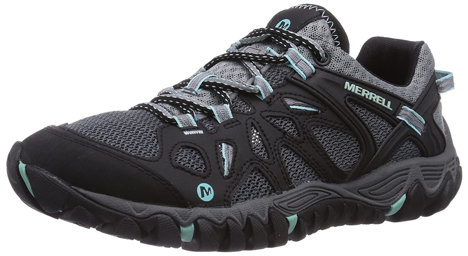 Merrell Women's All Out Blaze Aero Sport Hiking Water Shoe B00KZIUCLO 9 B(M) US|Black/Aventurine