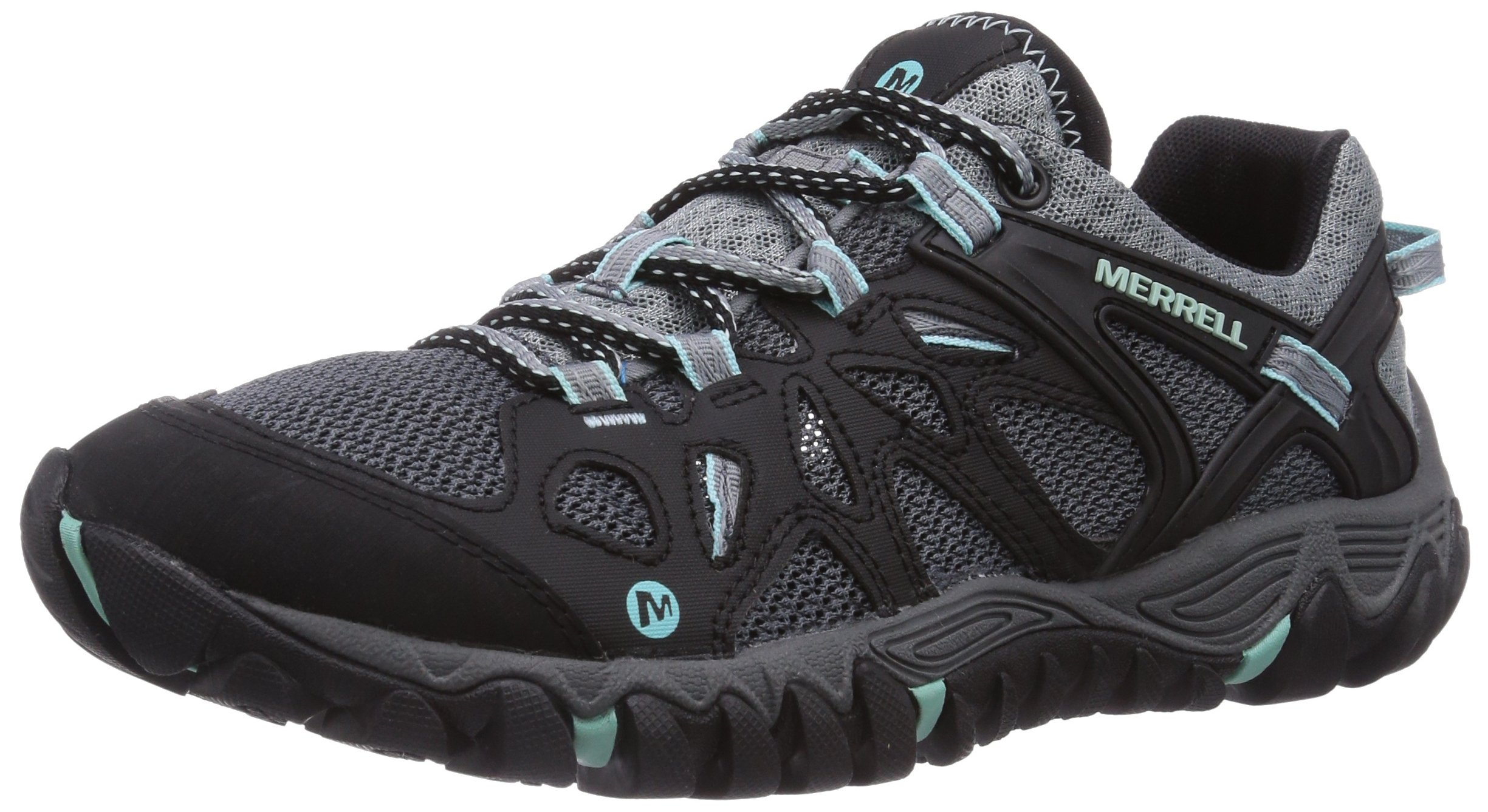 Merrell Women's All Out Blaze Aero Sport Hiking Water Shoe,Black/Aventurine,7.5 M US by Merrell