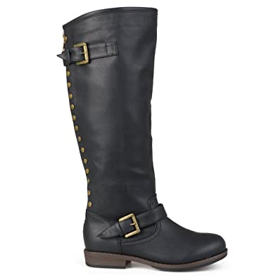 ef0560861e9ca Amazon.com | Brinley Co Women's Durango Riding Boot Regular & Wide ...