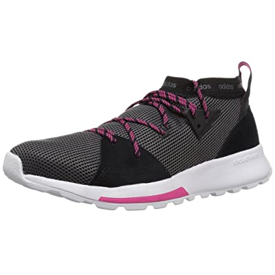 adidas Women's Quesa Running Shoe, Black/Grey/Shock Pink, 8 M US | Road Running