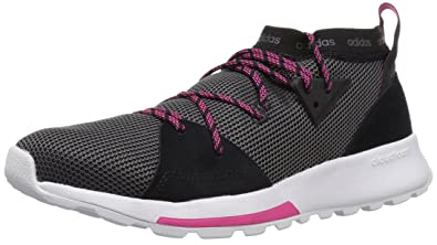 165309fb84224f adidas Women's Quesa Running Shoe, Black/Grey/Shock Pink, ...