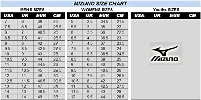 mizuno tennis shoes size chart european release