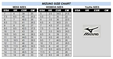 mizuno shoe size chart youth jazz jeans women's