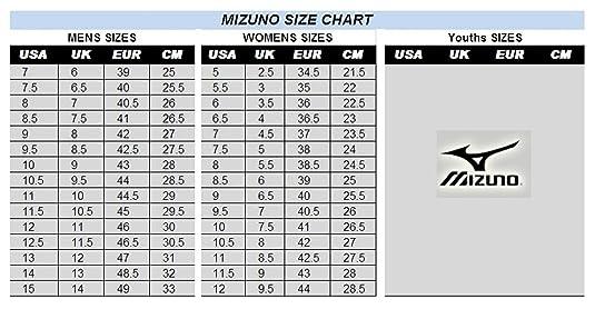 mizuno shoe size chart youth jazz jacket femme