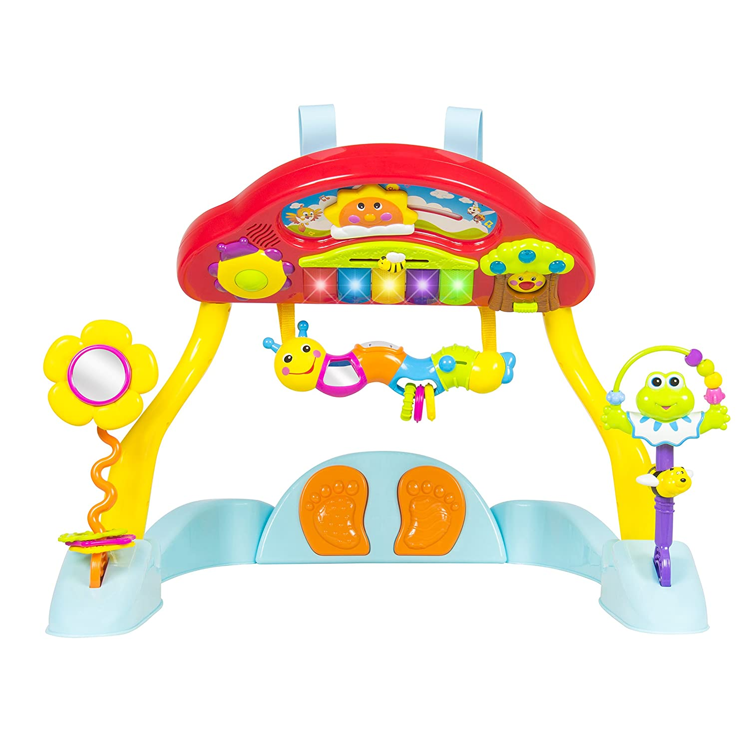 Crib gym for babies - Amazon Com Best Choice Products Deluxe Music Baby Activity Gym And Crib Soother Musical Melodious Lights Keyboard And Much More Toys Games