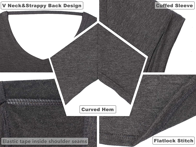 icyzone T-Shirts de Yoga Femme /à Manche Courtes Tee Shirt Running Fitness Tops Lot de 2