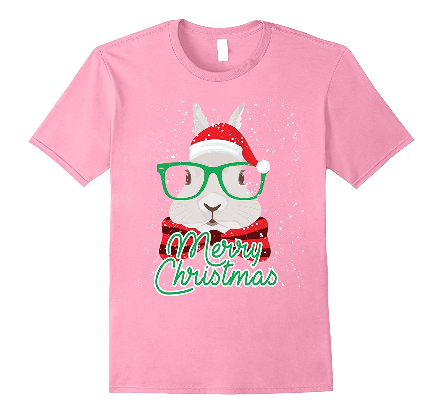 Rabbit Bunny Merry Christmas TShirt-Art