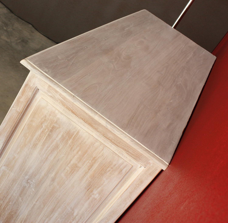 Mobile buffet Shabby Chic PROVENZALE Bianco decapato - in legno ...