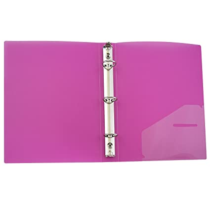 amazon com c line 3 ring poly binder with inner pocket mini size
