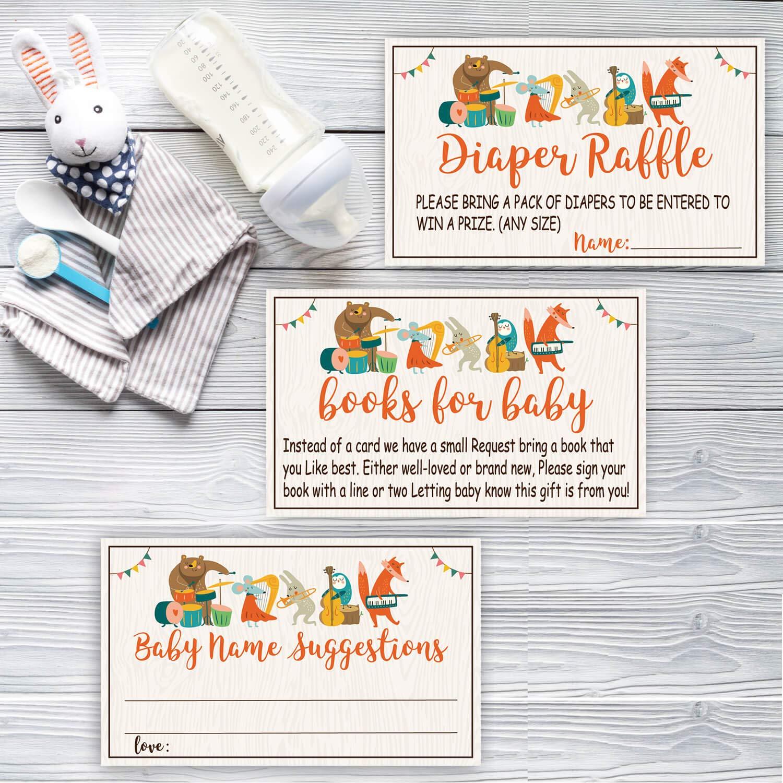 Amazon.com: 50 Libros para Baby Shower Tarjetas de solicitud ...