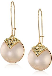 884465f31 Alexis Bittar Crystal Encrusted Origami Inlay Dangling Sphere Kidney Wire  Drop Earrings