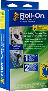 Duck Brand Roll-On Outdoor Extra Large Window/Patio Door Premium Insulating Film Kit, 84-Inch x 112-Inch, 281070