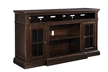 Superb Ashley Furniture Signature Design Roddinton Tv Stand 74 In Rectangular Dark Brown Home Interior And Landscaping Ologienasavecom