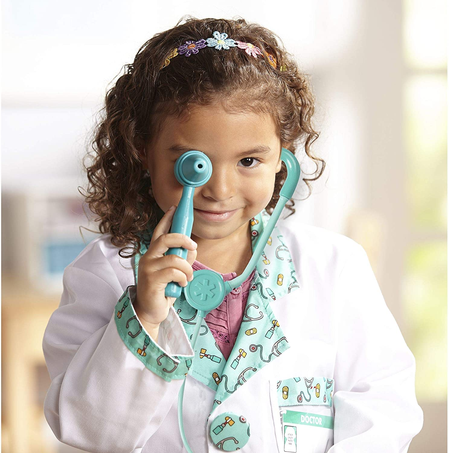 Melissa Doug Doctor Role Play Costume Set White
