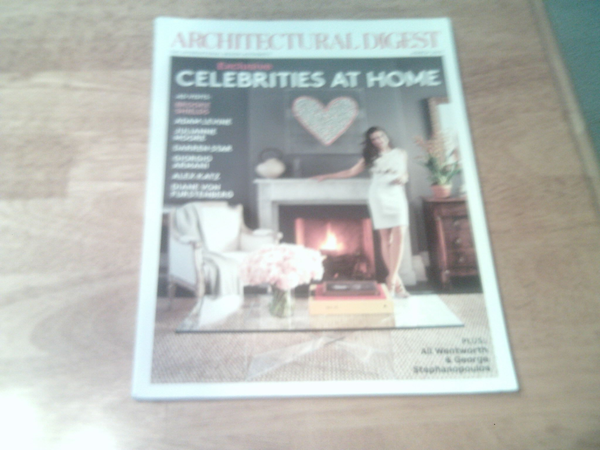 """Read Online Architectural Digest, March 2012 (Cover Story, """"Exclusive: Celebrities at Home"""") ebook"""
