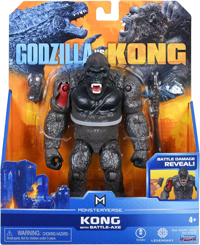 Amazon Com Playmates Godzilla Vs Kong With Battle Axe Toys Games