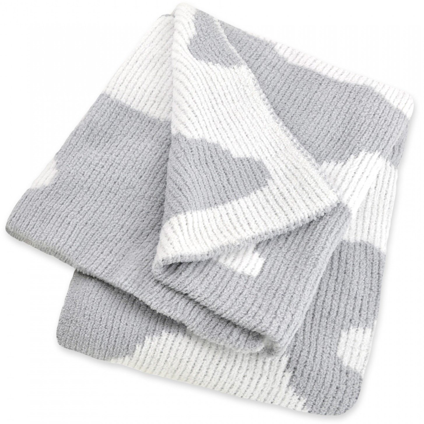 Just Born Clouds Chenille Sweater Knit Blanket - Gray